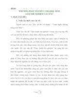 ĐỀ TÀI: PHƯƠNG PHÁP TỔ CHỨC CHO HỌC SINH  LÀM THÍ NGHIỆM VẬT LÍ 6