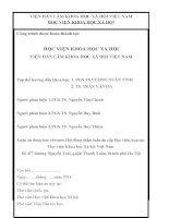 tóm tắt luận án quan hệ dòng họ của người nùng phàn slình (nghiên cứu ở huyện cao lộc, tỉnh lạng sơn)