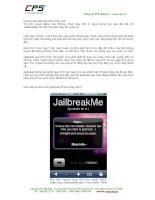 Huong dan unlock iphone 3g nang cap len iOS4