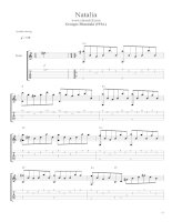 Natalia - Georges Moustaki - Guitar Sheet