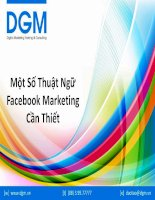 Một số thuật ngữ facebook marketing cần thiết