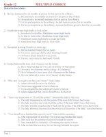 200 câu trắc nghiệm tiếng anh ôn thi đại học (có đáp án)