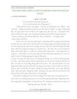 ĐỀ TÀI GIÚP HỌC SINH  LỚP 8 VÀ LỚP 9 CÓ PHƯƠNG PHÁP GIẢI BÀI TẬP VẬT LÍ