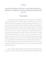 MỘT SỐ KINH NGHIỆM VỀ VIỆC DẠY CÂU ĐIỀU KIỆN (CONDITIONAL SENTENCES  CONDITIONAL CLAUSES) CHO HỌC SINH THPT ĐẠT HIỆU QUẢ CAO