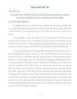 SỬ DỤNG MÁY VI TÍNH  ỨNG DỤNG CÔNG NGHỆ THÔNG TIN TRONG DẠY HỌC MÔN KTCN (CÔNG NGHỆ) TẠI TRƯỜNG THPT