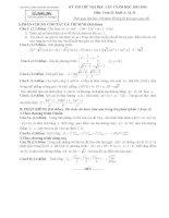Bộ đề thi thử và đáp án môn toán của trường THPT chuyên Vĩnh Phúc 2014