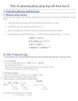 Một số phương pháp giúp học tốt hóa học 8