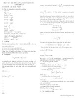 Ứng dụng tích phân giải bài toán vật lý ôn thi đại học