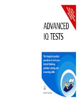Advanced IQ Tests: The Toughest Practice Questions to Test Your Lateral Thinking, Problem Solving and Reasoning Skills