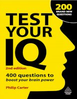 TEST YOUR IQ 400 questions to boost your brainpower