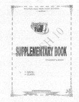 Supplementary book english 10 - thpt nguyễn hữu tiến