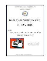 Đồ án tốt nghiệp cơ điện tử hệ thống máy phay cnc thực tế  ảo phiên bản lạc hồng