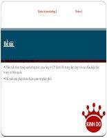 Phân tích thực trang quản trị marketing mix của công ty Kinh Đô và đề ra giải pháp nhằm hoàn thiện quản trị phân phối