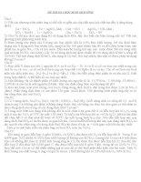6 đề thi HSG hóa học lớp 10 hay và nên xem