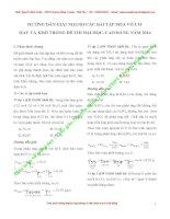 PHÂN TÍCH tìm HƯỚNG GIẢI tối ưu CHO các bài tập hóa vô cơ 2014 (1)