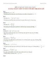 41 bài tóan tiếp tuyến với đồ thị hàm số