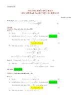 phương pháp dồn biến đối với bất đẳng thức 3 biến số