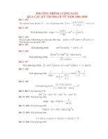 tài liệu phương trình lượng giác qua các kỳ thi đại học - cao đẳng 2002-2009