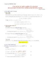 ứng dụng sự biến thiên của hàm số để giải một phương trình và hệ phương trình