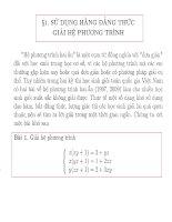 sử dụng hằng đẳng thức để giải hệ phương trình