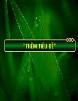 Free download mẫu powerpoint template độc đáo thiên nhiên cây xanh
