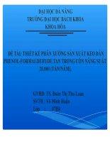 Thiết kế phân xưởng sản xuất keo dán phenol formaldehyde tan trong cồn năng suất 20.000 (tấn/năm)