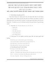 bài thi kiến thức  liên môn môn văn lớp 8 thuyết minh về một danh lam thắng cảnh