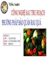 Bài tiểu luận phương pháp bảo quản rau quả