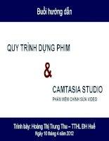 Quy trình dựng phim và CAMTASIA STUDIO phần mềm chỉnh sửa video