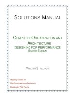 Solution manual computer organization and architecture designing for performance (8th edition)   william starllings