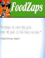 FoodZaps là cách đơn giản nhất để quản lý nhà hàng của bạn