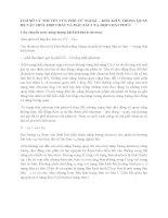 CƠ SỞ LÝ THUYẾT CỦA PHỔ TỬ NGOẠI – KHẢ KIẾN TRONG QUAN HỆ CẤU TRÚC HỢP CHẤT VÀ MÀU SẮC CỦA HỢP CHẤT PHỨC