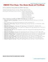 Tổng quan về NHNN và hệ thống NHTM Việt Nam