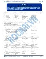 Tuyển tập đề ôn luyện thi đại học môn tiếng Anh