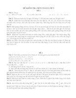 Tuyển tập các đề thi  kiểm tra môn Toán lớp 3