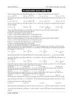 Trắc nghiệm dòng điện xoay chiều  mạch điện xoay chiều RLC