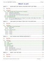 Giáo trình C cơ bản của Aptech tài liệu lập trinh c