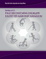 Phục hồi chức năng cho người khuyết tật giảm chức năng nhìn