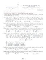4 đề thi thử vật lý hay và khó (có đáp án)