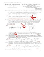 Đề thi thử ĐH môn Vật Lý có hướng dẫn giải chi tiết