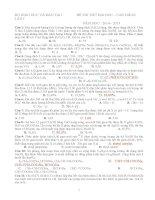 8 đề thi thử ĐH môn Hóa (Có đáp án)