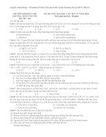 5 đề thi thử ĐH môn Hóa có hướng dẫn chi tiết