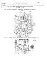 Đề thi kết cấu động cơ đốt trong đại học bách khoa đà nẵng