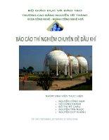 Báo cáo thí nghiệm chuyên đề dầu khí