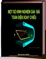 Ÿ Một số kinh nghiệm giải bài toán dòng điện xoay chiều trong môn Vật lí