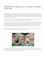 Phát biểu cảm nghĩ của em về truyện Con Rồng, Cháu Tiên - văn mẫu