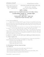 ĐỀ CƯƠNG KHẢO SÁT VÀ THIẾT KẾ BẢN VẼ THI CÔNG TUYẾN ĐƯỜNG QUẢN LỘ   PHỤNG HIỆP GÓI THẦU SỐ 11 PHÂN ĐOẠN : KM77+200 – KM87+200 THUỘC ĐỊA PHẬN TỈNH BẠC LIÊU