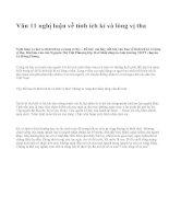 Văn 11 nghị luận về tính ích kỉ và lòng vị tha - văn mẫu