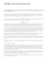 Kể diễn cảm truyện Thạch Sanh - văn mẫu