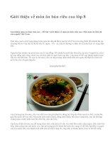 Giới thiệu về món ăn bún riêu cua lớp 8 - văn mẫu